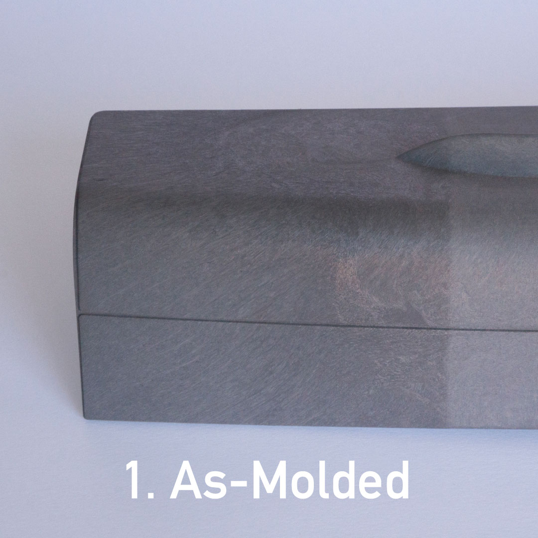 As-molded structural foam surface