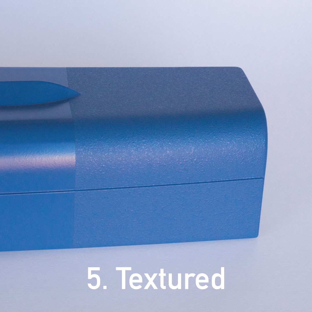 Textured finish on structural foam molded part.