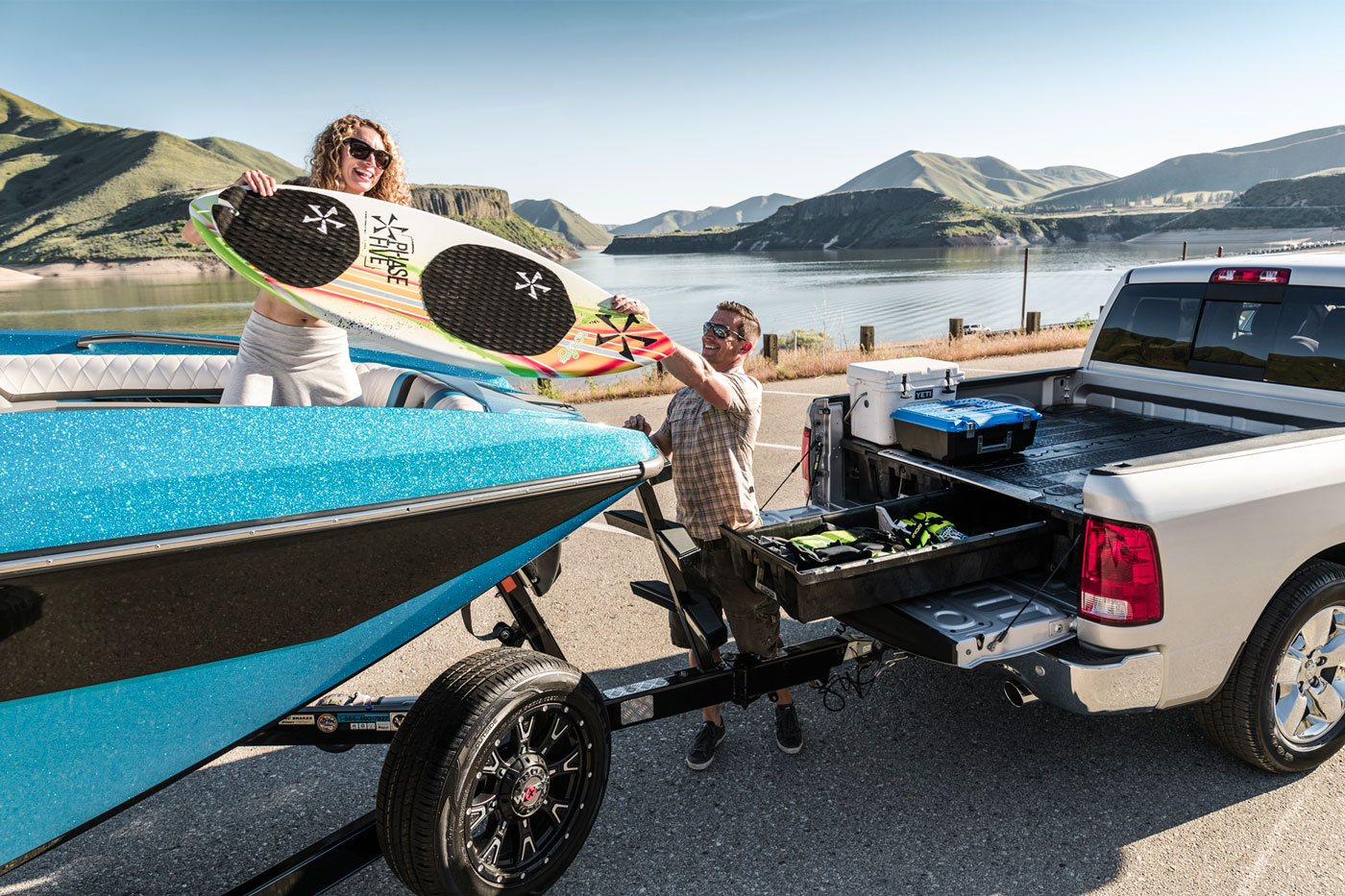 Now boaters can have a deck in their truck as well