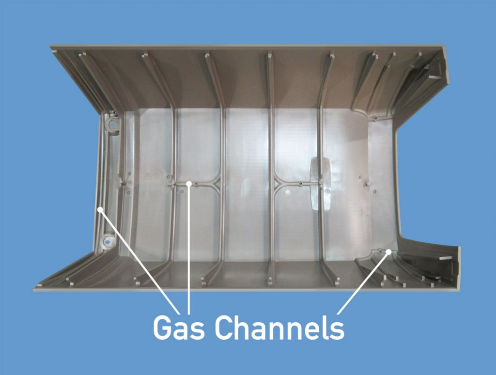 Gas Assisted Molding Channels