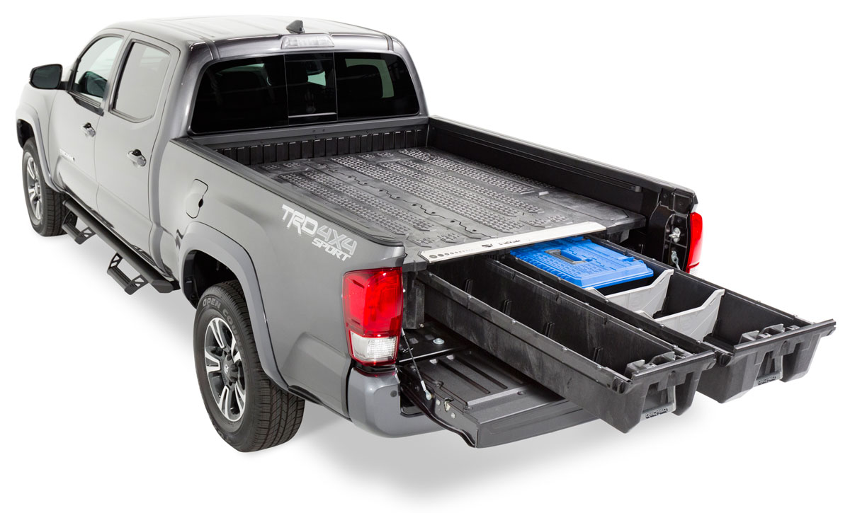 Storage system fitted in Toyota Tacoma pickup