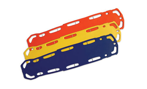 Rotation molded and foam-filled plastic EMS boards.