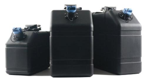 Three rotational molded tanks.