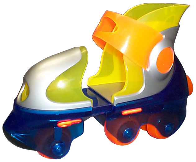prototype of a plastic molded roller skate